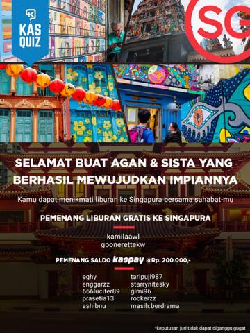 [FR] Saatnya Impian Jadi Nyata: Dari Tulisan Membawa Saya Liburan Gratis Ke Singapura