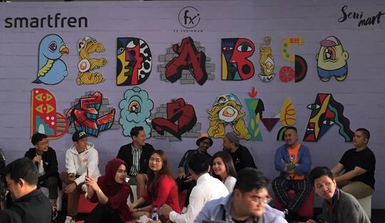 [FR] Press Confrence dan Indahnya Mural Pada 'Warna-warni Indonesia'