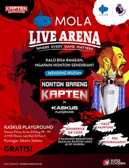 Yuk, Nobar Arsenal vs Spurs di KASKUS Playground. Gratis!