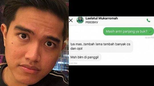 Viral Chat Kaesang Pangarep Putra Pak Jokowi dan Driver Ojek Online, Mengaharukan Gan