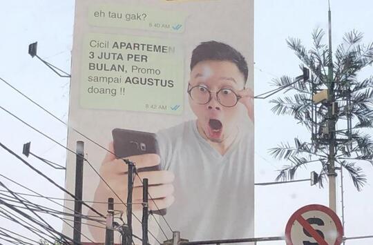 """Duh! Foto """"KEANEHAN"""" Pada Iklan Apartemen Ini Bikin Netizen Gagal Paham!"""