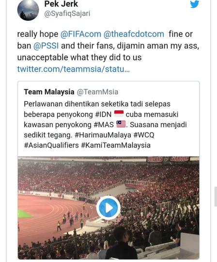 NetizenMalaysia Ramai-Ramai Minta agar Indonesia Dihukum FIFA