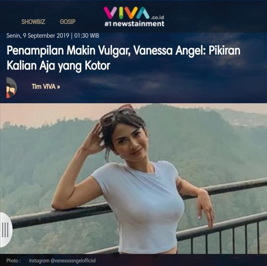Penampilan Makin Vulgar, Vanessa Angel: Pikiran Kalian Aja yang Kotor