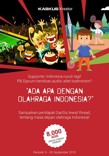 Akan Seperti Apa Dunia Olahraga Indonesia di Masa Depan? Yuk Tuliskan Pendapatmu!