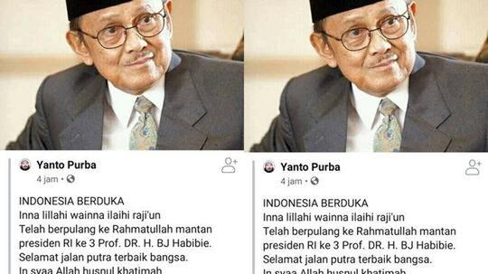 Mantan Presiden BJ Habibie Meninggal Dunia?