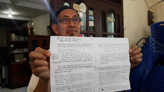 Seorang Kakek Kirimi Surat Anak SD Ala Dilan dan Berujung Pencabulan! Kakek Sugiono?
