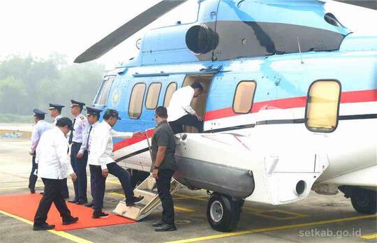 Mantul, Presiden Jokowi Pimpin Pembentukan Hujan Buatan di Riau