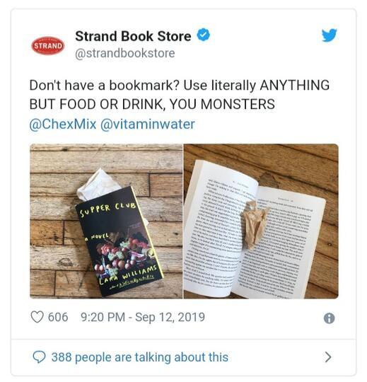 Parah! Makanan Dijadikan Pembatas Buku