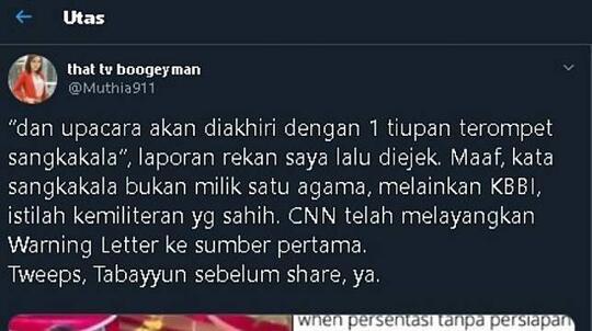 Jurnalis CNN Buka Suara Mengenai Sangkakala Pemakaman BJ Habibie