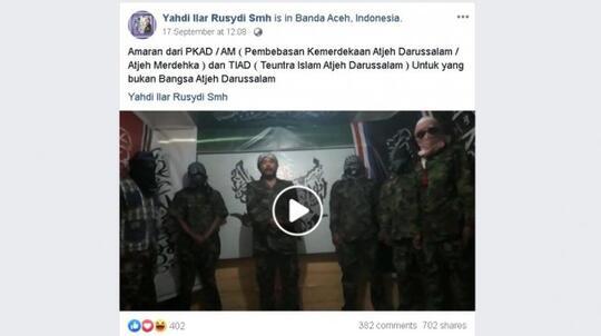Viral Video Seruan Tentara Aceh Darussalam, Usir Semua Orang Non Aceh