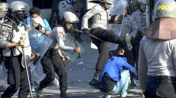Polisi Membabi Buta Pukuli Anggota Fraksi Gerindra DPRD Sumut