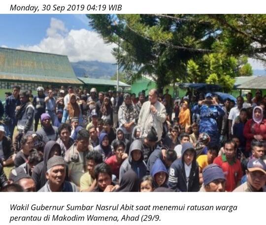 Pemda Wamena berharap pendatang kembali lagi, kalau tidak ekonomi bisa lumpuh