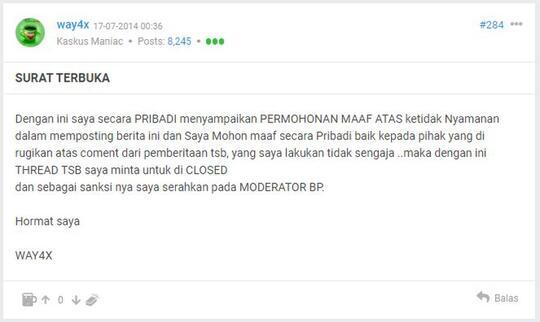 [Surat Terbuka] Mohon Lepas Tag Berita Politik Enthusiast dari ID uzuaan