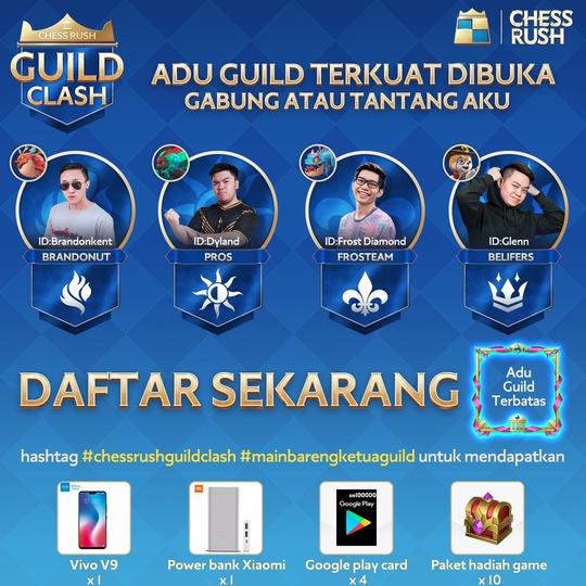 Persiapkan Guild-mu dan Tantang Guild Para Influencer di Chess Rush