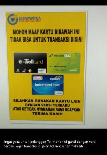 Viral Uang Elektronik Tidak Bisa Dipakai di Tol,Berikut Tanggapan JasaMarga