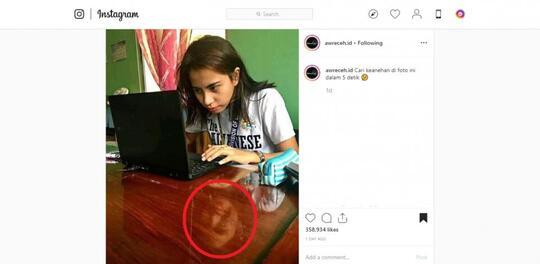 """Ada Sosok """"PENAMPAKAN"""" Di Foto Gadis CANTIK Ini Bikin Netizen Bingung!"""