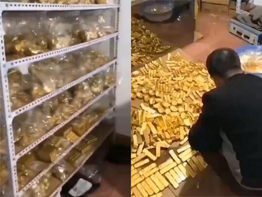 Gila! Koruptor di China Timbun 13,5 Ton Batang Emas Dalam Bunker Rumahnya