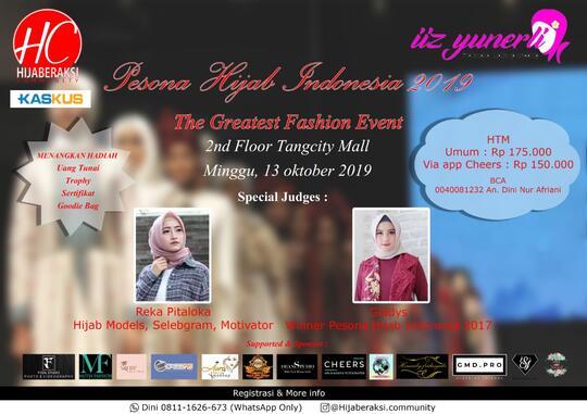 Undangan ..... Event Pesona Hijab Indonesia 2019 by HIJABERAKSI COMMUNITY