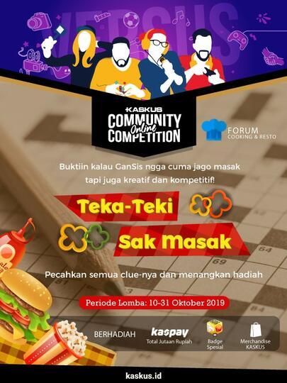 [COC.TTS_Cooking2019] Isi TTS dan Raih Hadiah Jutaan Rupiah