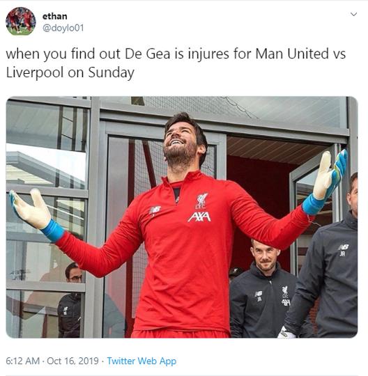 De Gea Cedera, Malah Dibikin Meme oleh Warga Twitter