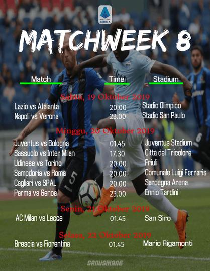Jadwal Liga Italia Pekan 8. Ambisi Milan Raih Kemenangan Bersama Pioli