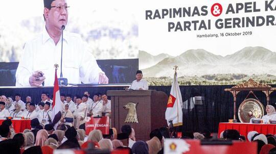Survei: Mayoritas Publik Tolak Gerindra Masuk Koalisi Jokowi
