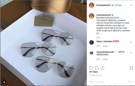 Mulan Jameela Posting Dikirimi Kacamata Gucci, KPK Ingatkan soal Etika
