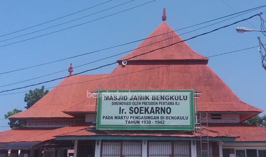 Masjid Jamik Bengkulu Berarsitekan Bung Karno Kaskus